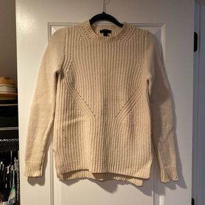 J. Crew Cream Wool Sweater